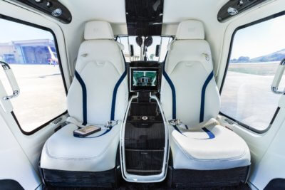 Cabin view of Bell 429 with white MAGnificent interior